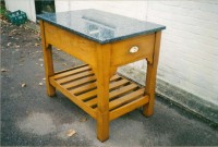 Small Kitchen Table with Granite Top