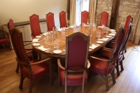 Founder's Room dining table and chairs