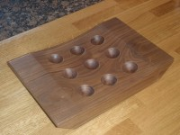 Black Walnut Egg Holder