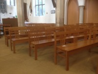 Pews at St Catherine's church, Burbage
