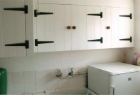 Scullery Cupboards in Painted Ash