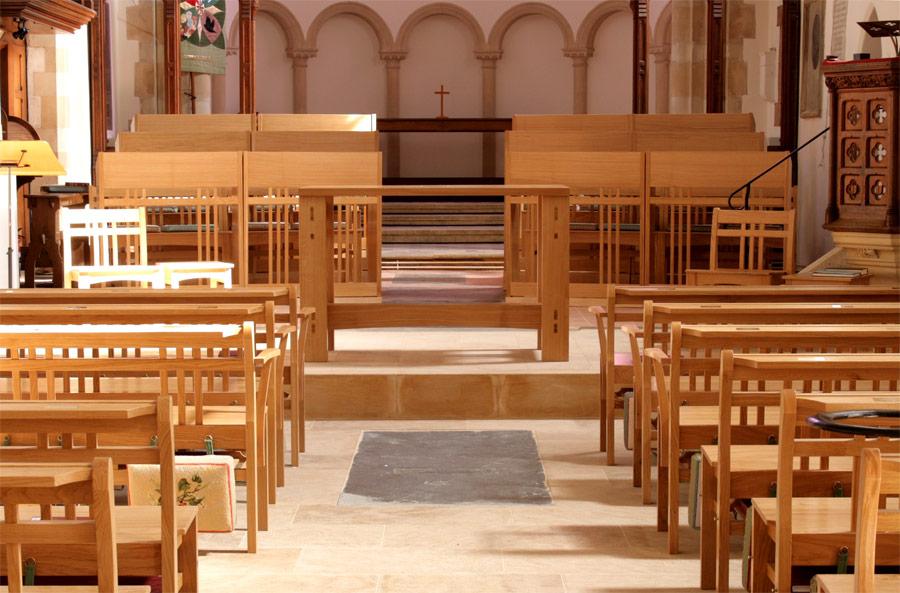 Portfolio Of Hand Made Ecclesiastical Church Furniture Bespoke