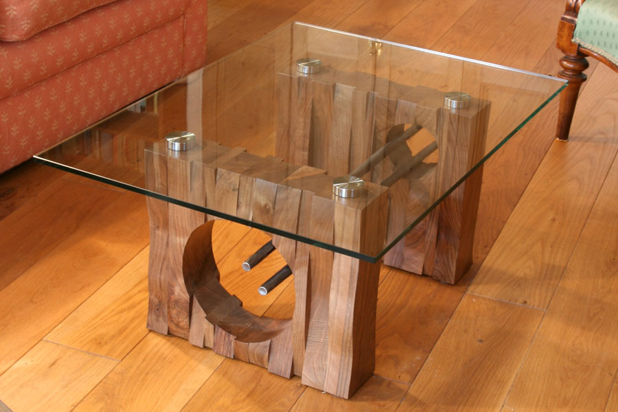 Portfolio of hand made small occasional and coffee tables bespoke furniture and carpentry from Bespoke glass furniture