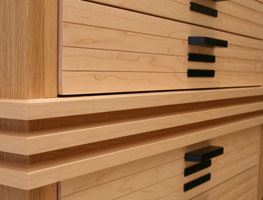 Contemporary wooden chest